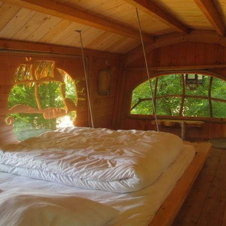 Dormir dans une cabane dans les arbres sur un arbre perch for Dans x