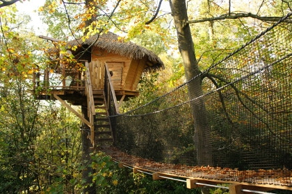 Dormir dans une cabane dans les arbres sur un arbre perch - Fixation cabane dans les arbres ...