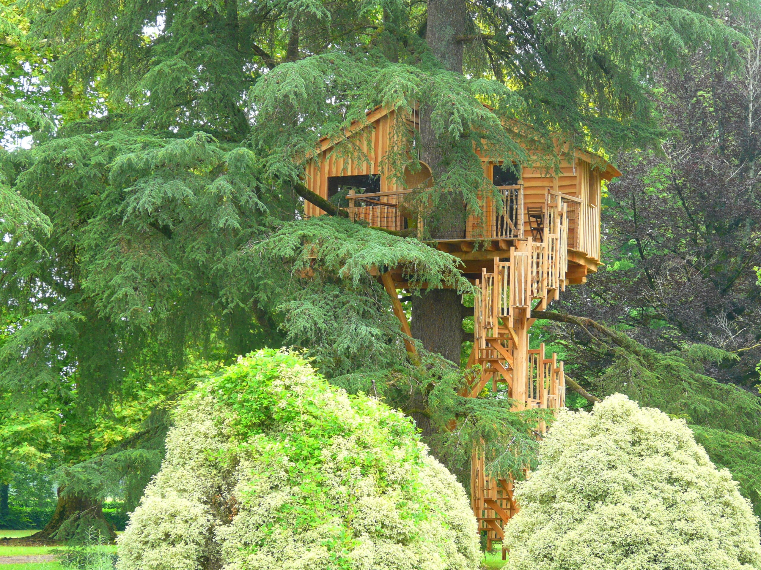 cabane dans les arbres béarn